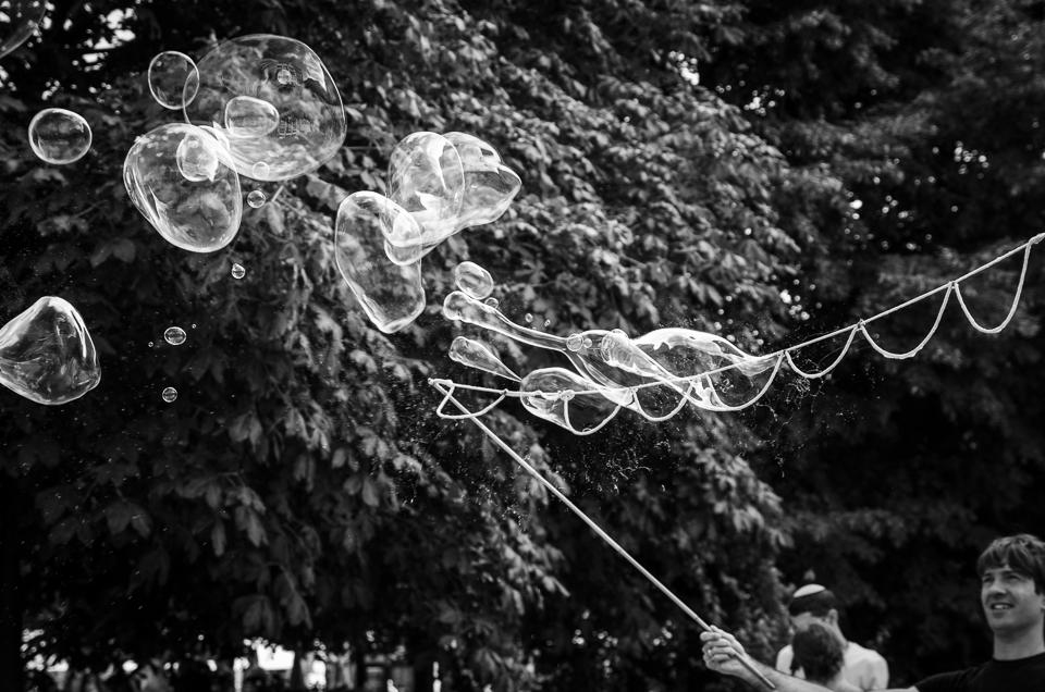Seifenblasen am Hackeschen Markt